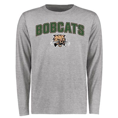 Ohio Bobcats Proud Mascot Long Sleeve T-Shirt - Ash