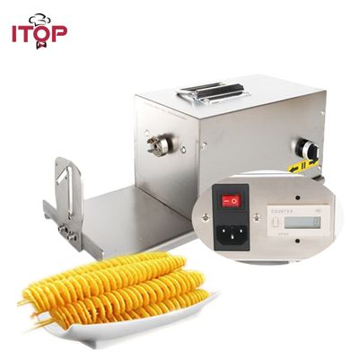 ITOP Electric Potato Spiral Cutter Machine Tornado Potato Tower Maker Stainless Steel Twisted Carrot Slicer Commercial