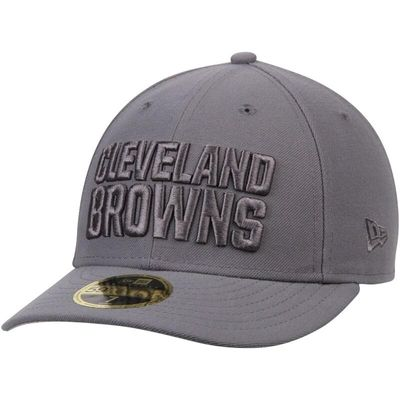 Cleveland Browns New Era Storm Gray League Basic Low Profile 59FIFTY Structured Hat