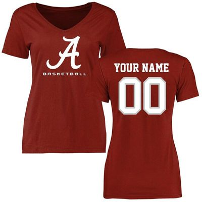 Alabama Crimson Tide Women's Personalized Basketball T-Shirt - Cardinal