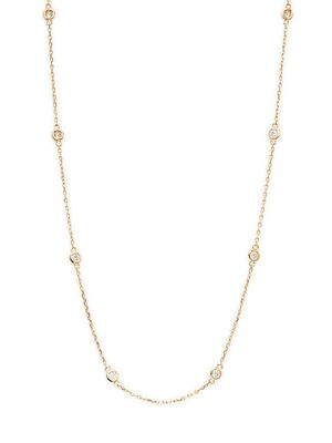 Saks Fifth Avenue 14K Yellow Gold & Diamond Station Necklace