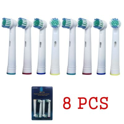 8pcs Sensitive Clean Electric Toothbrush Brush Heads Keep Clean Transparent Brush Heads Oral Care For Oral B Toothbrush
