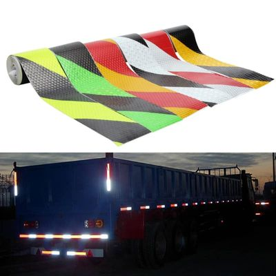 Luxury PVC Safety Reflective Warning Tape Conspicuity Film Sticker Multicolor