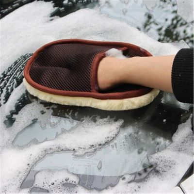 Car Care Cleaning Brushes Car Styling Wool Soft Car Washing Gloves Cleaning Brush Motorcycle Washer Care Products