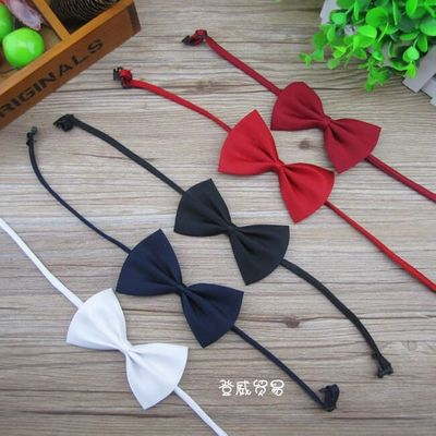 New Polyester Silk Solid Colors Bow Tie Baby Accessory Children Kids Clothing for Wedding Party Celebration Ceremony LXH