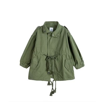 Mihkalev 2020 autumn winter kids trench coat girl cotton windbreaker 2-8year children jackets and coats baby clothes