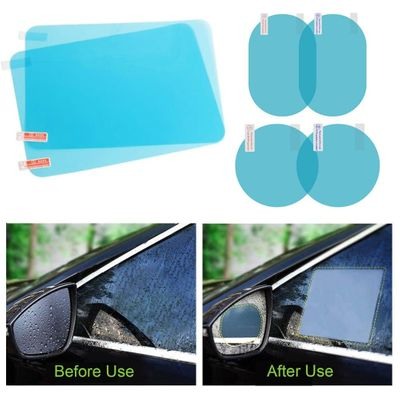 2PCS Rainproof Film Anti Fog Side Window Reflective Anti-Scratch Clear Protective Film Micro-Nano for Car Side Rearview Mirror
