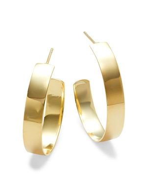 SPHERA MILANO Goldplated Sterling Silver J Hoop Earrings