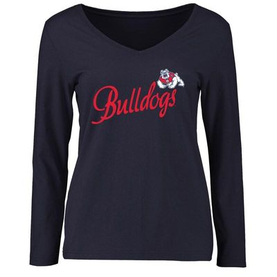 Fresno State Bulldogs Women's Dora Long Sleeve T-Shirt - Navy