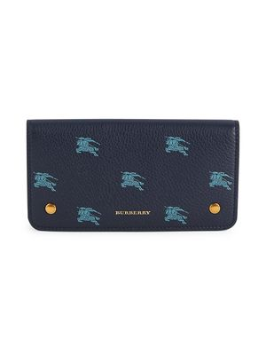 Burberry Rowe Logo Graphic Pebbled Leather Card Holder