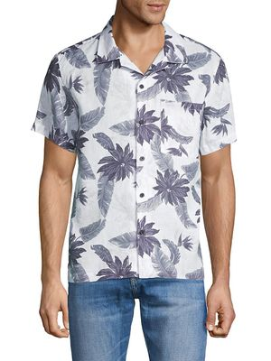 7 For All Mankind Aloha Print Linen Shirt