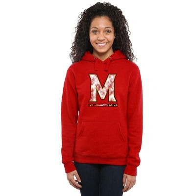 Maryland Terrapins Women's Classic Primary Pullover Hoodie - Scarlet