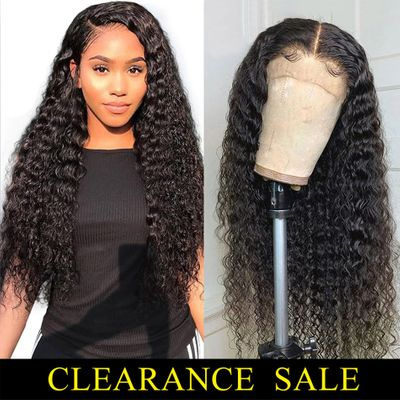 Lace Front Wig Human Hair Deep Curly Short Long 13x4 Lace Front Human Hair Wigs For Women 150% Density PrePlucked Remy Curly Wig