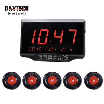 DAYTECH Waiter Calling System Wireless Queue Pagers Restaurant Coaster Pager LCD Receiver Waterproof(E-500BL)