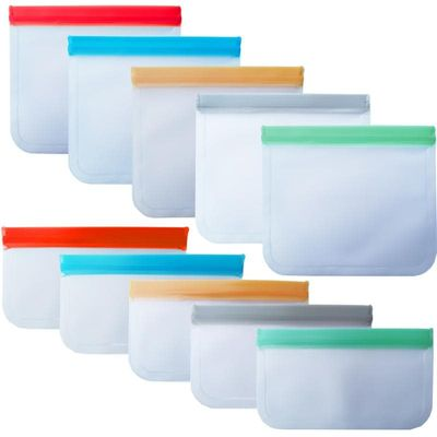 Reusable Silicone Food Storage Bags Preservation Freezer Bags Sandwiches, Bread, Bacon, Fish, Meat, Chicken Storage Bag