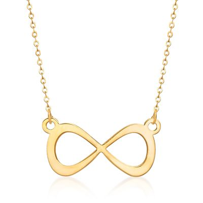 Ross-Simons Italian 14kt Yellow Gold Infinity Necklace