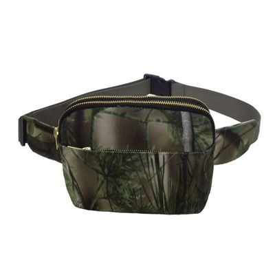 Unisex Multifunction Crossbody Bag Camouflage Square Outdoor Casual Chest Bag With Silt Pocket New