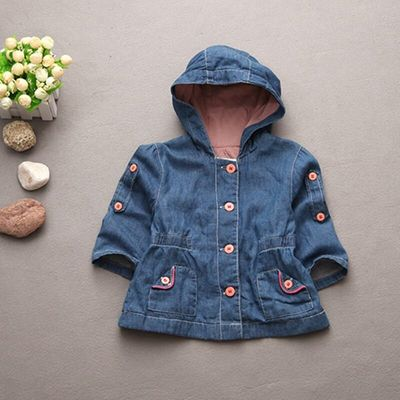 Fashion baby coats and jackets denim infant jackets Double-deck long style baby girl winter coat toddler girl clothes 9-36M