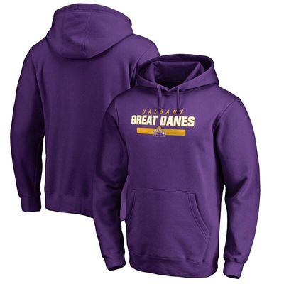 Albany Great Danes Team Strong Pullover Hoodie - Purple