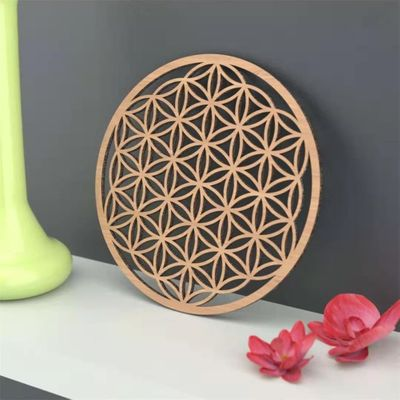 Flower Of Life Wall Decoration, Sacred Geometry Home Decor, Custom Rustic Wood Sign Wall Art Flower Of Life Wooden Coaster