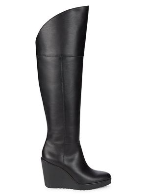 Rebecca Minkoff Lottee Leather Knee-High Wedge Boots
