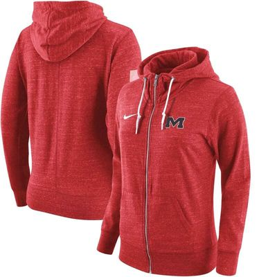 Ole Miss Rebels Nike Women's Tailgate Gym Vintage Full-Zip Hoodie - Red