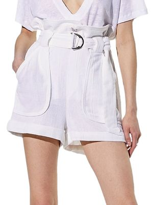 IRO Lux High-Waist Paperbag Shorts