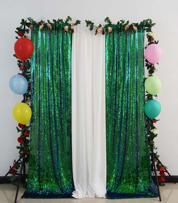 3ftx8ft Glitter Curtain Iridescent Green Shimmer Backdrop Curtians Wedding Decoration Background-M1005