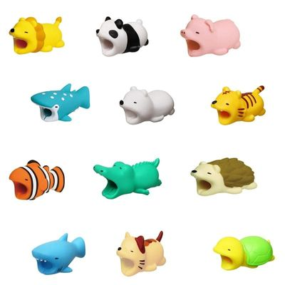 Cable Winder  Animal Cable Bites Protector  for Iphone Funny Animal Sheep Salamanders  Kabel Diertjes Phone Holder Accessory
