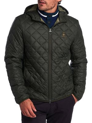 Barbour Box-Quilted Hooded Jacket