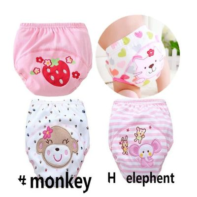 4pc/lot Pink Series Waterproof Baby Girls Potty Training Pant Infant Underwear Panties Newborn Underclothing suit 6 to 10kg