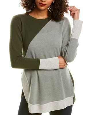 Hannah Rose Asymmetrical Cashmere Sweater