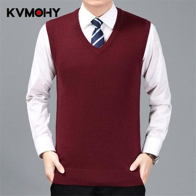 Sweater Men Pullover Cashmere Jumper Classic Sleeveless Sweaters Vest Mens Pull Homme Male Pattern Cashmere Sweater Vest
