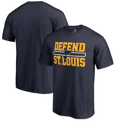 St. Louis Blues Hometown Collection Defend T-Shirt - Navy