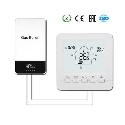 Gas Boiler Thermostat Floor Heating Temperature Controller Digital Weekly Programmable Thermoregulator with AA Battery