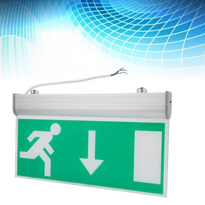 Acrylic LED Emergency Exit Lighting Sign Safety Evacuation Indicator Light 110-220V For Hotel Hospital Library new