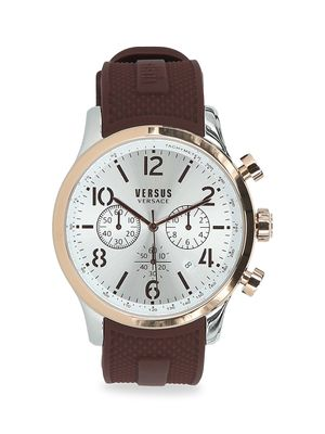 Versus Versace Versus Naboo Two-Tone Stainless Steel Chronograph Silicone Strap Watch