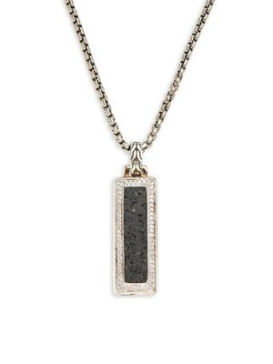 John Hardy Sterling Silver & Diamond Pendant Necklace