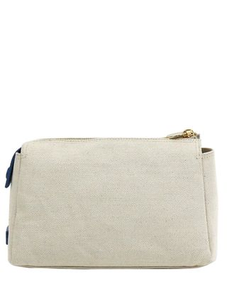 Neely & Chloe The Small Canvas & Leather Pouch