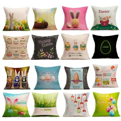 pillow cases for decorative pillows Easter Sofa Bed Home Decoration Festival Pillow Case cushion cover 45x45cm Scenic #B