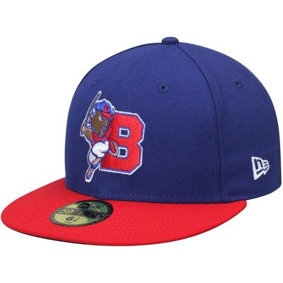 Buffalo Bisons New Era Game Authentic Collection 59FIFTY Fitted Hat - Blue/Red