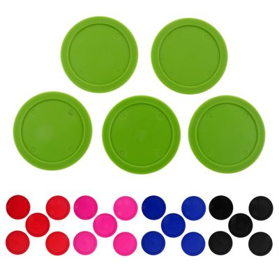 5 Pieces 62mm Durable Plastic Air Hockey Pucks Choice of Colors Entertainment Table Game Standard Air Hockey Pucks Accessories
