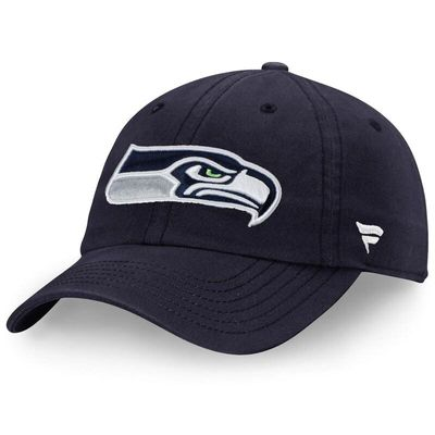 Seattle Seahawks NFL Pro Line by Fanatics Branded Fundamental Adjustable Hat - Navy
