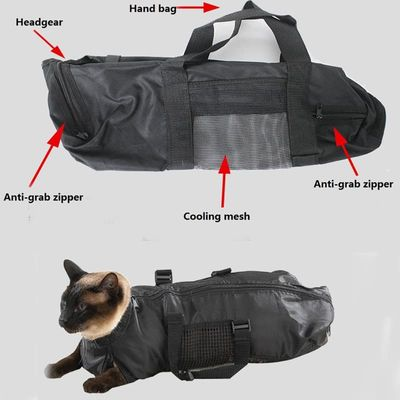 Soft Cat Restraint Bag with Handle Cat Grooming Medical Care Bath Prevent Kitten Claw Scratch Pet Cat Supplies