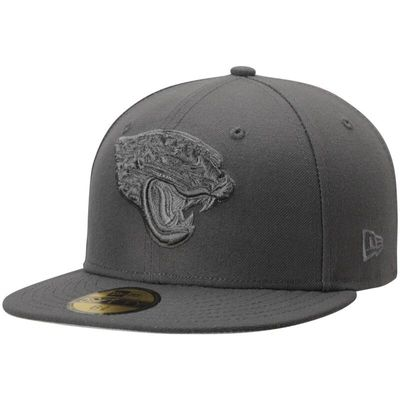 Jacksonville Jaguars New Era Tonal League Basic 59FIFTY Fitted Hat - Graphite