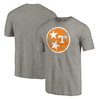 Tennessee Volunteers State Flag Tri-Blend T-Shirt - Heathered Gray
