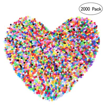 2000pcs 10mm Mixed Color Pom Pom Soft Felt Balls Pom Poms Fluffy Balls DIY Crafts Decor For Baby Children Kids Room Decorations