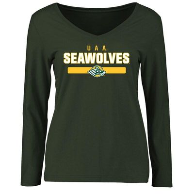 Alaska Anchorage Seawolves Women's Team Strong Long Sleeve T-Shirt - Green
