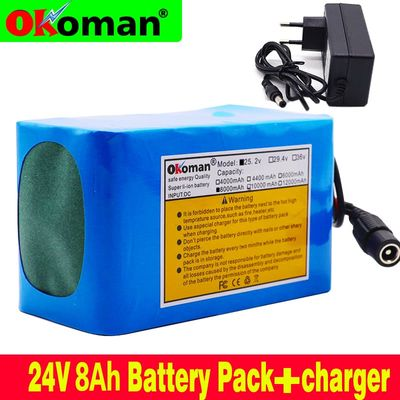 100 original 18650 24 V 8Ah Li-ion Battery 8000mAh Battery 25.2 v BMS Electric Moped / Electric Bicycle / Battery with charger