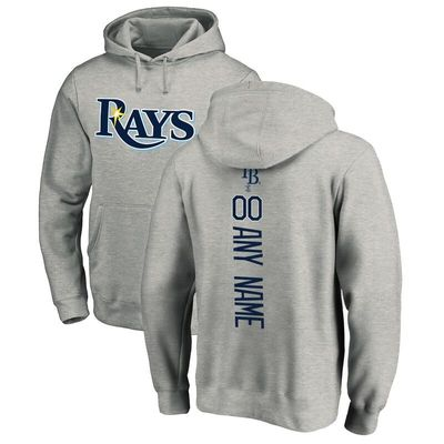 Tampa Bay Rays Fanatics Branded Personalized Playmaker Pullover Hoodie - Ash